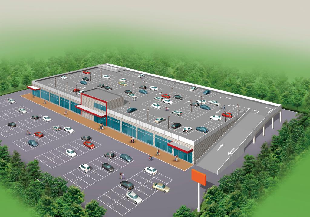 トレオ屋根駐車場付店舗<1F>(CG)